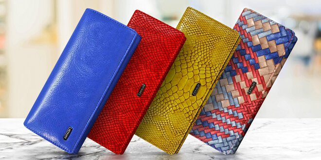 Dámské peněženky v dárkových krabičkách Cavaldi