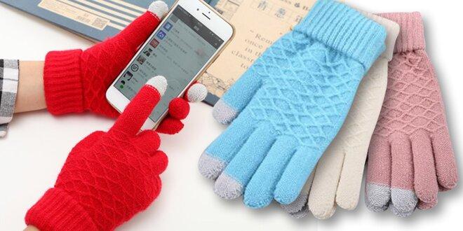 Dámské zimní rukavice na dotykový displej