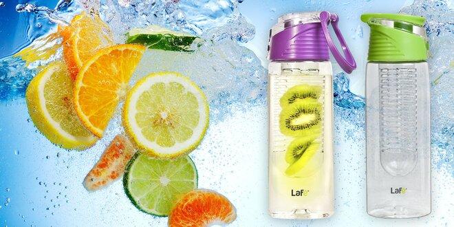 Lahve na vodu Lafé s vnitřním košíkem na ovoce