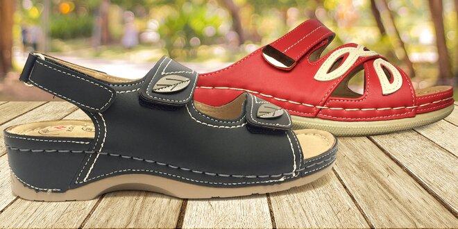 Pohodlné pantofle a sandále Koka