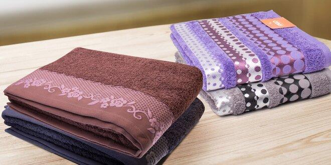 Měkké a savé bavlněné ručníky a osušky