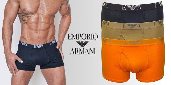 Sada 3 komfortních boxerek Emporio Armani