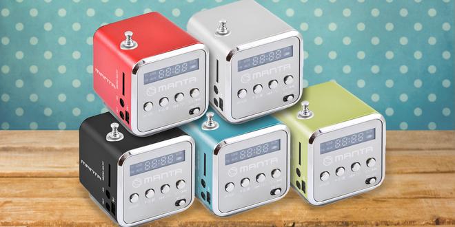 Mini rádio Manta v chytlavém retro designu
