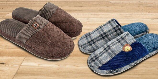 Pohodlné a hřejivé pánské papuče TexBase