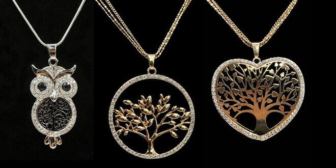 Náhrdelníky s přívěskem: strom života i víla