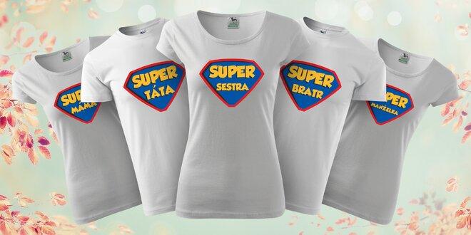 Parádní bavlněná trička pro celou rodinu