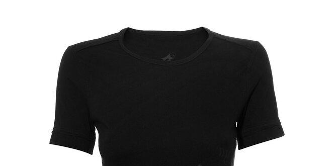 Dámské sportovní tričko Lotto v černé barvě s potiskem