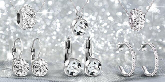 Sady šperků z chirurgické oceli i s krystaly