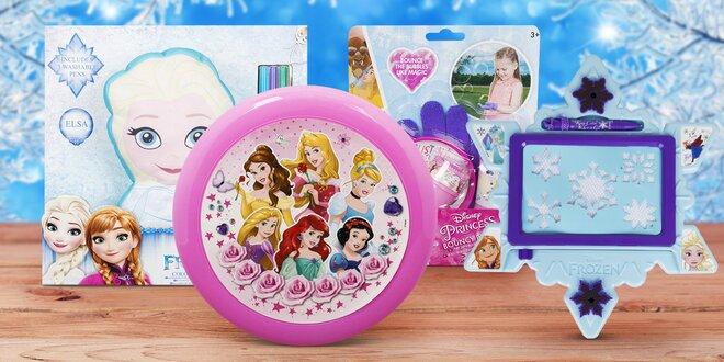 Hračky Frozen a Princess: bublifuk i švihadlo