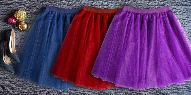Nádherné tylové tutu sukně – ruční výroba