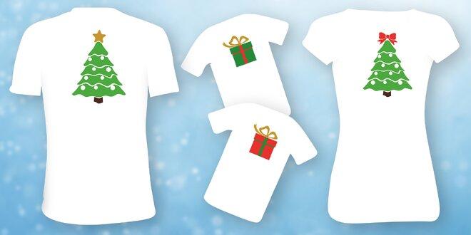 95877068746 Trička s vánočním motivem pro celou rodinu