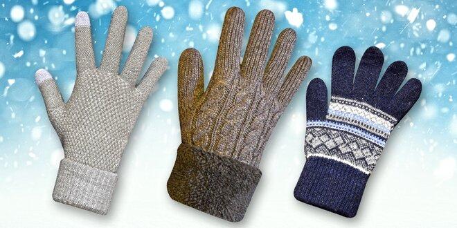 Dámské rukavice na displej i extra teplé pánské  c9b3facd3e