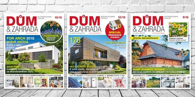 Roční předplatné časopisu Dům & Zahrada 2019