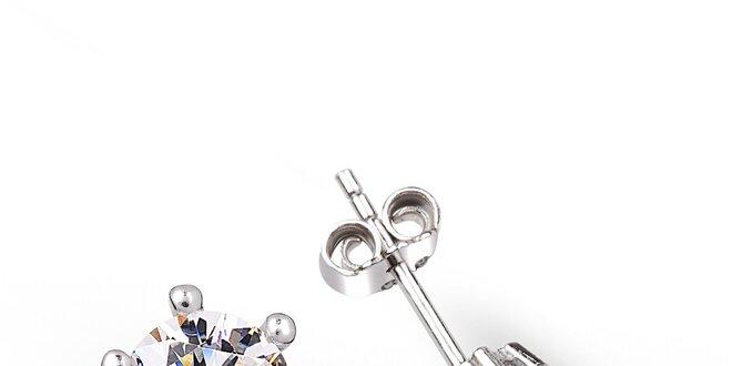 Dámské stříbrné náušnice s kulatým zirkonem Giorgio di Mare