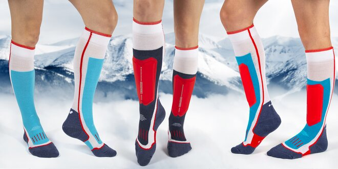 Lyžařské ponožky s chráničem holeně i bez