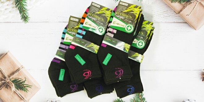 6 párů kompresních polotermo ponožek Termo Hit
