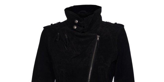 Dámská černá kožená bundička Vero Moda