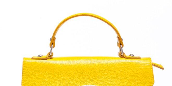Dámská kanárkově žlutá kabelka s odepínatelným popruhem Carla Ferreri 3dec1437945