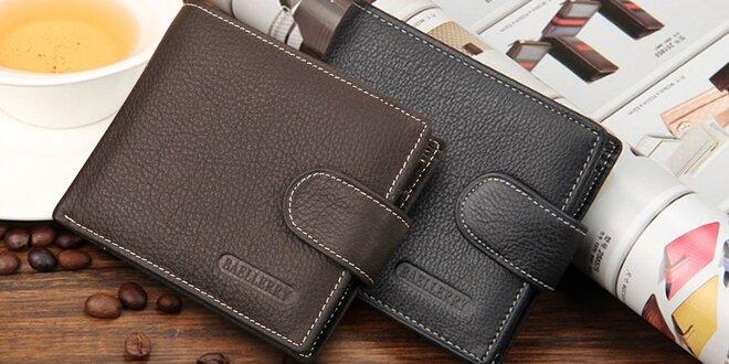 Elegantní kožené pánské peněženky ve 2 barvách