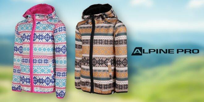 Dětské svetry Alpine Pro  hnědá a růžová barva  310f39647f