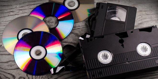 Převod 240 minut z VHS kazet a jiných druhů na DVD