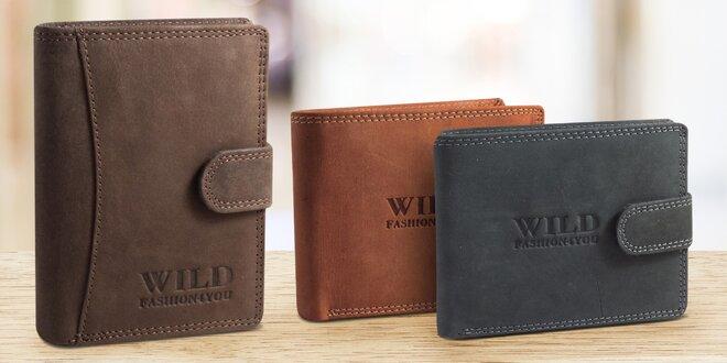 Pánské peněženky z buvolí kůže v černé i hnědé
