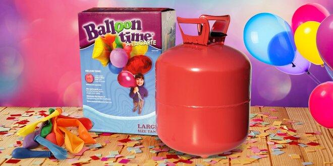 Heliové bomby pro nafouknutí 30 až 75 balonků