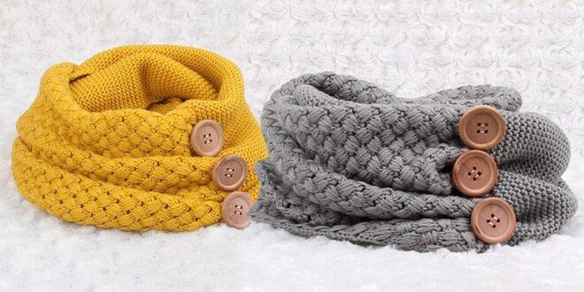 Hřejivý pletený nákrčník do chladných dnů  ca3c792fc9