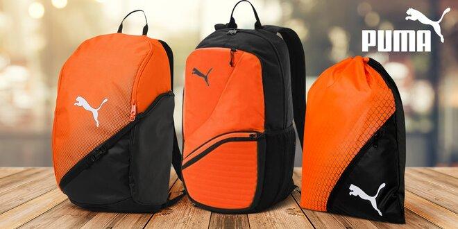 Oranžovo-černé sportovní batohy a gymsack Puma  9645422f6c
