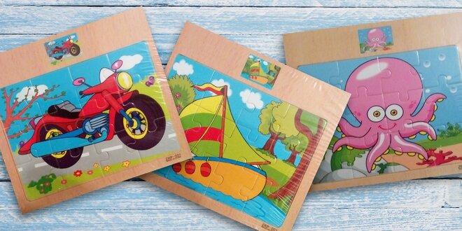 Puzzle v dřevěném rámečku pro nejmenší děti