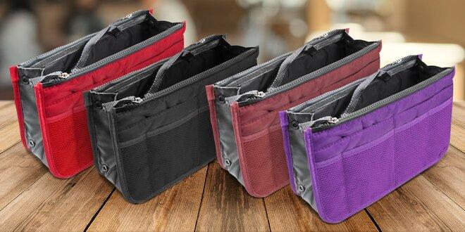 Praktické organizéry do kabelky v mnoha barvách