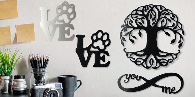 Ocelové dekorace na zeď vyrobené v ČR: 4 druhy