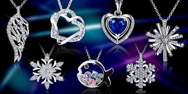 Náhrdelníky s krystaly Swarovski a zirkony