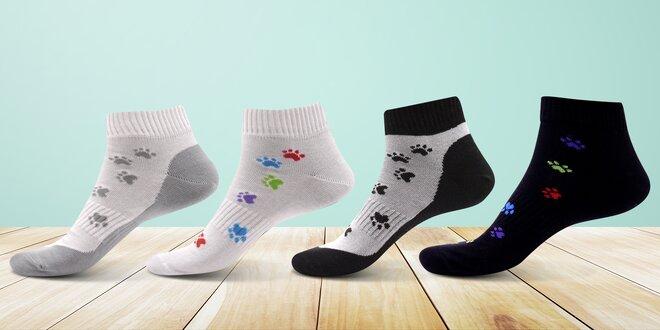 Ponožky s motivem psích tlapiček  2822adbaae