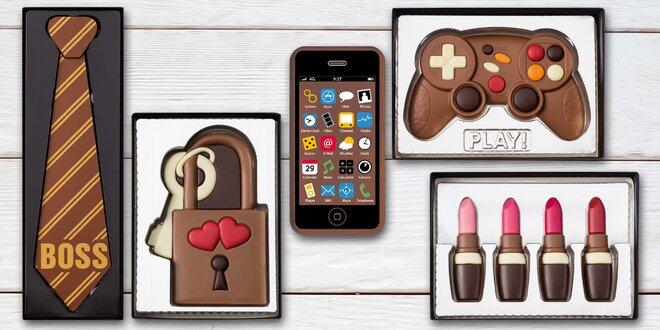 Úžasné dárky z čokolády: foťák, kreditka i kravata