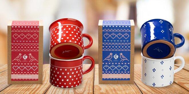 Valentýnská káva Jizba a hrnky Moravská keramika