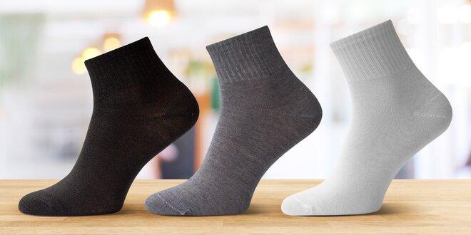 12 párů bambusových ponožek nad kotník