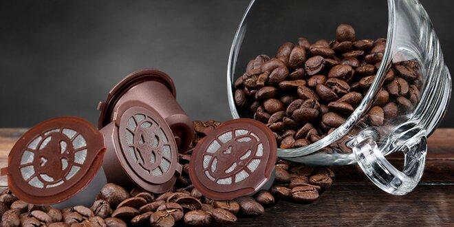 4 plnitelné kapsle pro Nespresso, odměrka a štětec