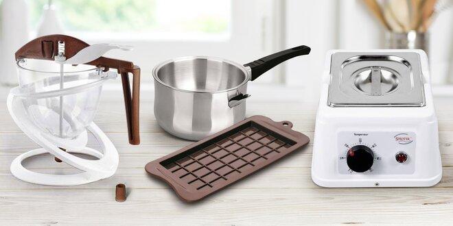 Přístroje a pomůcky na domácí výrobu čokolády