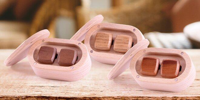 Ručně vyráběné dřevěné manžetové knoflíčky