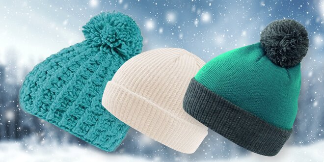 Pletené zimní čepice v různých barvách i stylech
