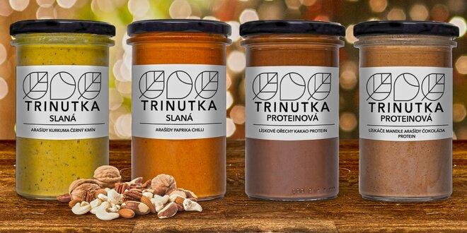 Ořechové, proteinové i slané krémy Trinutka
