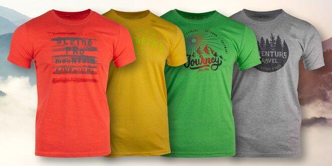 Pánská trička Alpine Pro s nápisy ve 4 barvách  eadc2fa0c7
