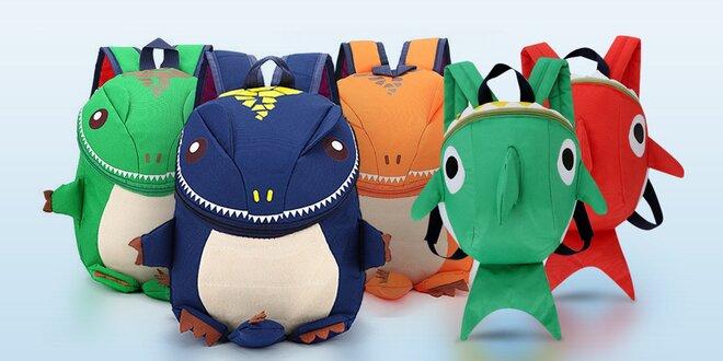 Dětské batůžky: dinosaurus nebo žralok