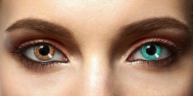 Nedioptrické kontaktní čočky ve 20 barvách