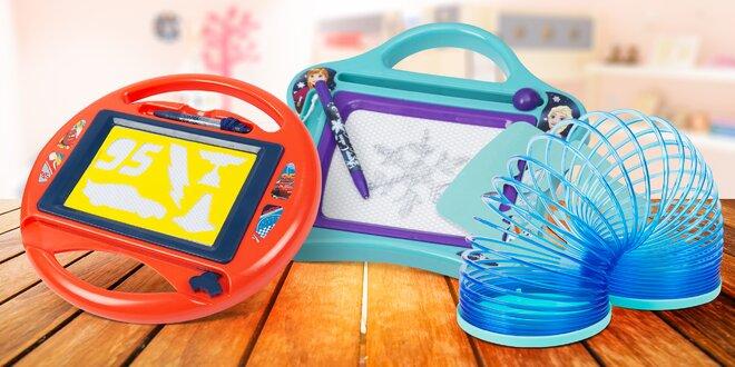 Hračky s motivy Frozen, Paw Patrol, Cars i Mimoni
