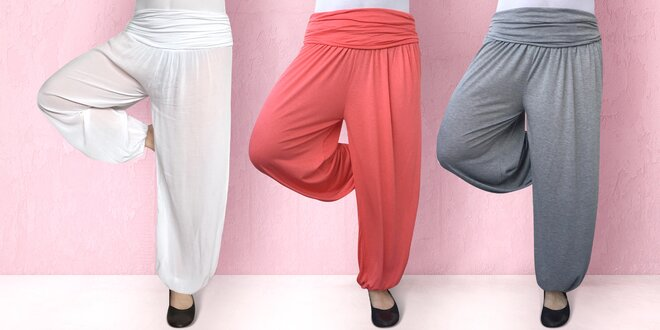 Dámské bavlněné harémové kalhoty