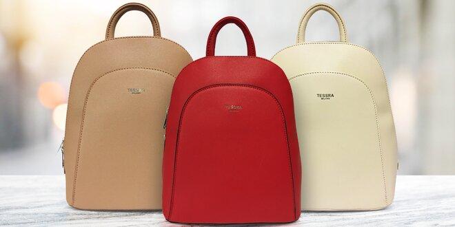 Dámské městské batohy Tessra: 6 barev, eko kůže