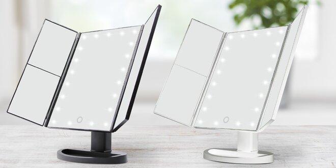 Čtyřzónové zvětšovací zrcadlo s LED osvětlením