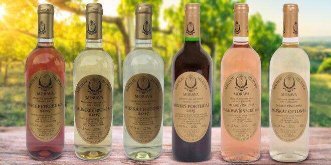 Sada 6 prémiových vín z Vinařství Hlávka
